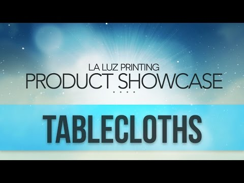 Customized Tablecloths For Business San Antonio Tx | (210) 202-1800 | La Luz Printing Company