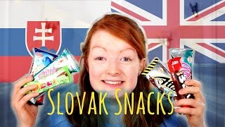 BRITISH GIRL TRIES SLOVAK SNACKS