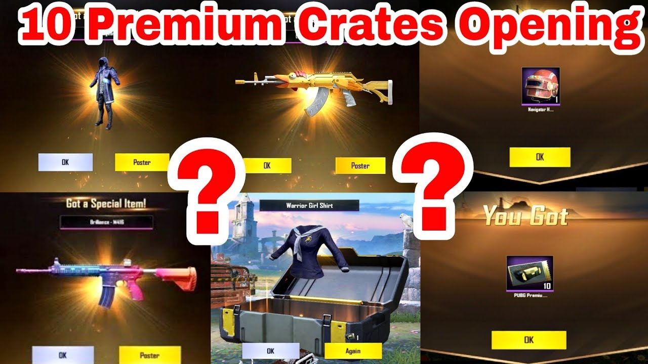 PUBG Mobile 10 Premium Crates Coupon Opening || I got Legendary items ? By  Infinity Gaming