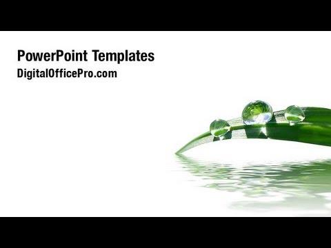 grass in water powerpoint template backgrounds digitalofficepro 07892w