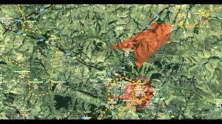 обзор карты боевых действий в Новороссии 02 09 2014 на 22 30 мск