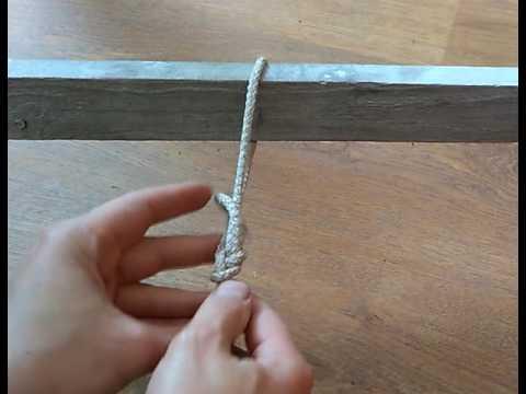 Быстрый способ вязать булинь вокруг предметов