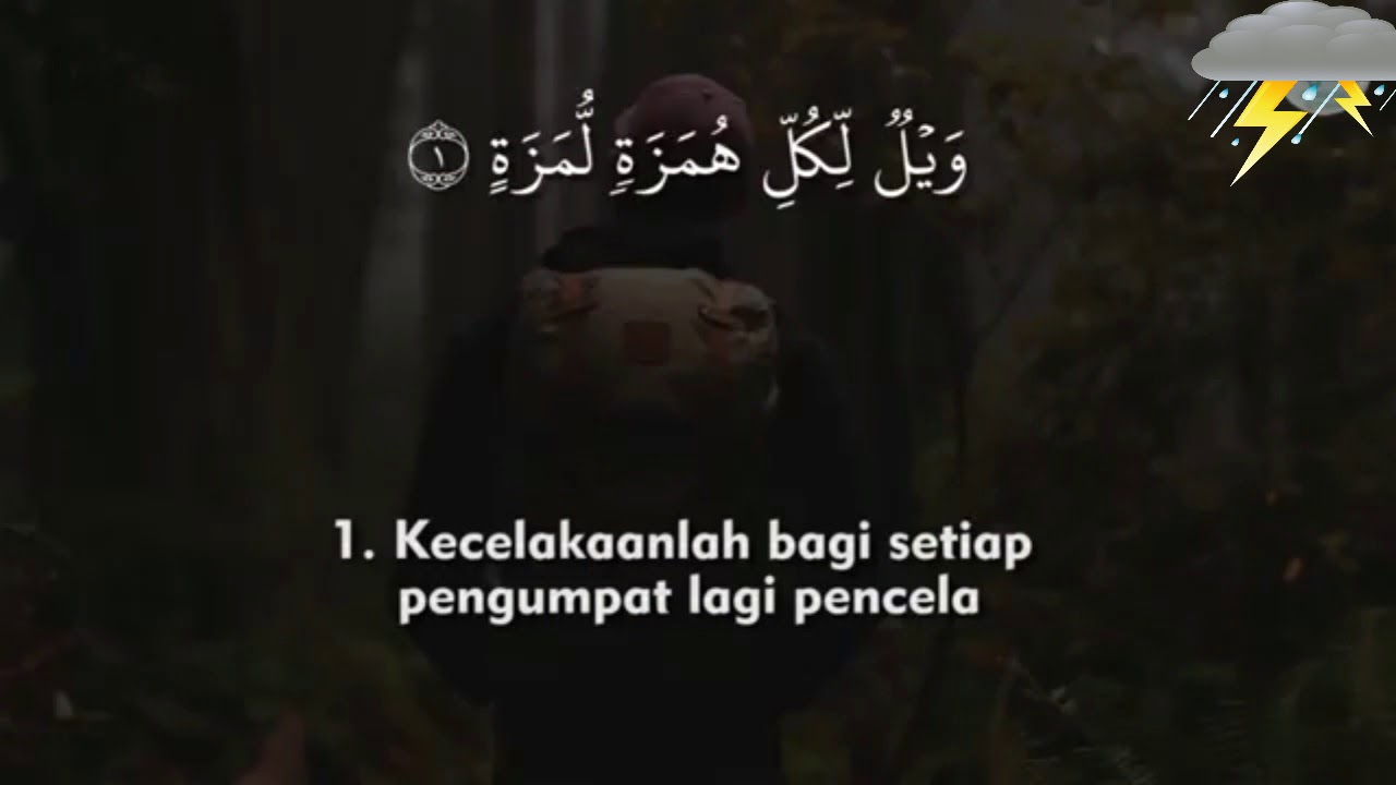 Surah Al Humazah Dan Terjemah Indonesia Mishary Rashid