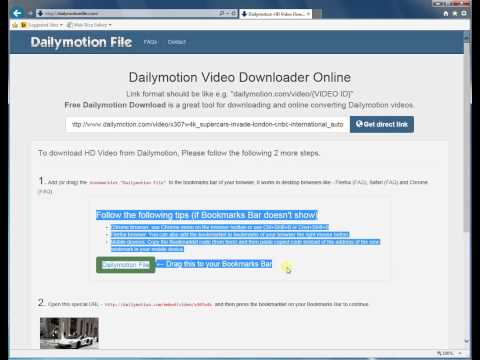How To Download Dailymotion Hd Video Using Internet Explorer 11