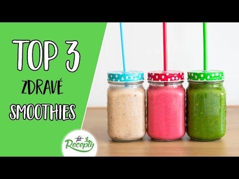 TOP 3 najlepšie zdravé smoothie recepty
