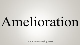 Download lagu How To Say Amelioration MP3
