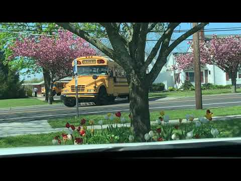 Buses leaving Clayton Huey Elementary School on 5/8/19 @ 3:15 PM