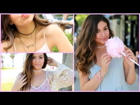 Easy & Quick DIY  Choker Necklaces! + How I wear them