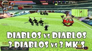 "RAKION - DIABLOS vs DIABLOS | 3 DIABLOS vs 3 MKs | 3 DIABLOS vs ANTHONY ""BLACK - BLUE - YELLOW"""