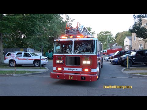 Town of Mamaroneck FD Engine 37 + *NEW-ish* Ladder 19 (Loaner) Responding