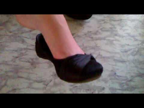Schoolgirl flats shoeplay under the desk by a beautiful teen girl