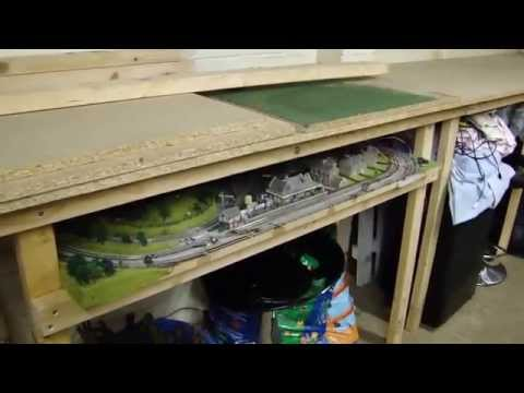 Starting from scratch Garage model railway Layout  in OO gauge