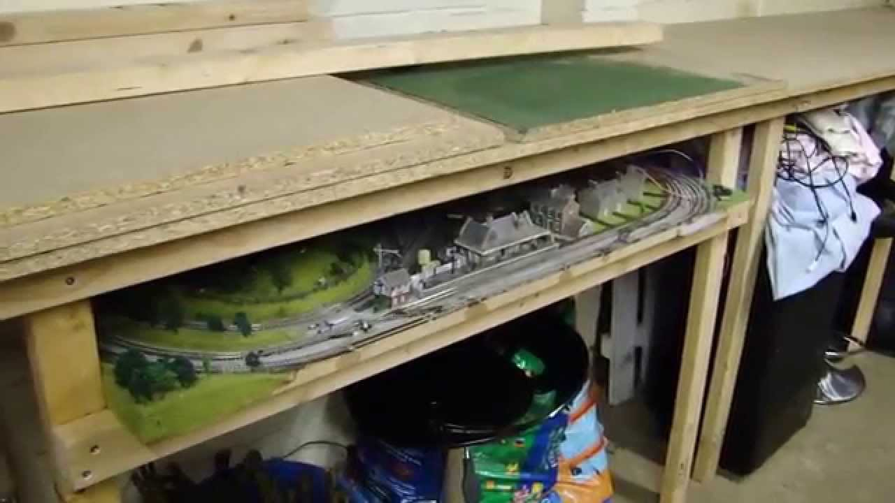 Starting From Scratch Garage Model Railway Layout In Oo