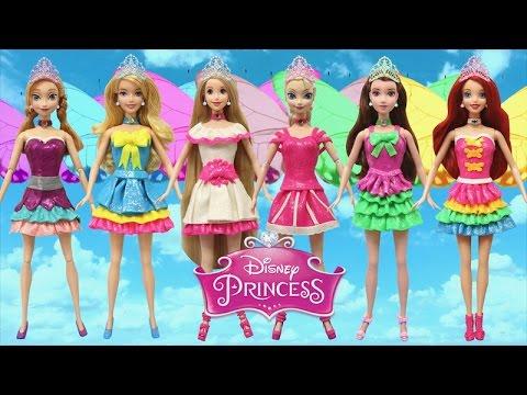 Play Doh Fairy Dresses Disney Princess Elsa Anna Rapunzel Belle