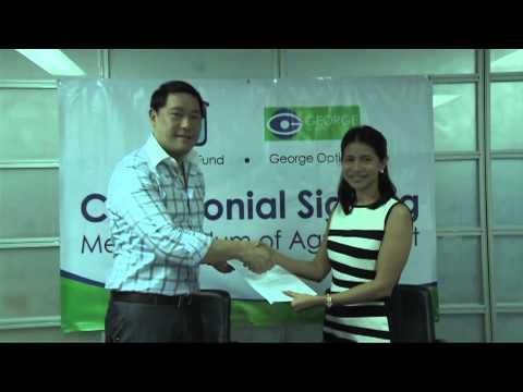 51da5e74d33 MOA signing with George Optical - YouTube