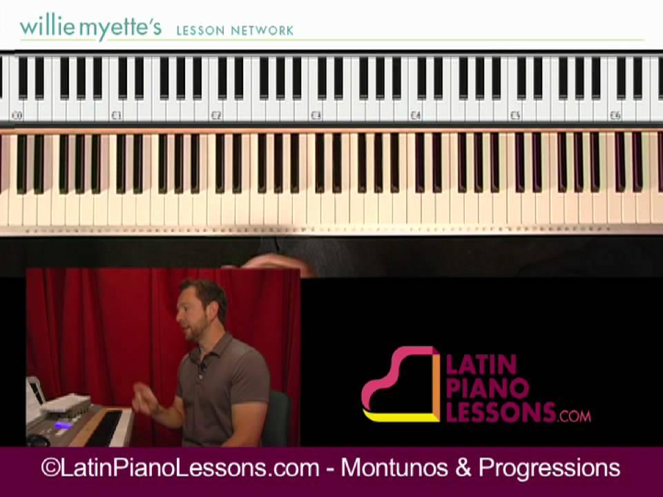 Montunos & Progressions - Salsa Piano Lessons [ex. 1] - YouTube