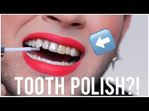 NAIL POLISH FOR YOUR TEETH?! Weird Beauty Product TESTED!