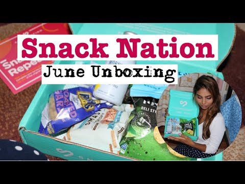 Just $1 Snack Nation Subscription Box - June Unboxing