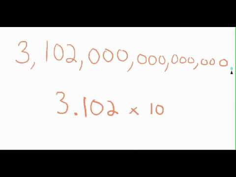 How to Go From Standard Form to Scientific Notation