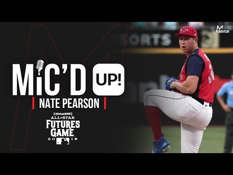 Nate Pearson Of The New Hampshire Fisher Cats Gets Mic'd Up Before The 2019 MLB Futures Game