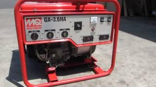 sold honda multiquip ga 3 6ha 3600 watt generator 240 120v 8hp gx240 engine