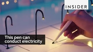 This pen makes drawings that conduct electricity thumbnail