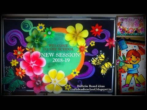 bulletin board ideas for new session 2018 - YouTube