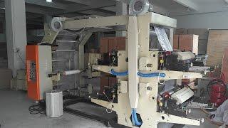 Automatic digital polyethylene plastic bag 4 colour flexo printing machine