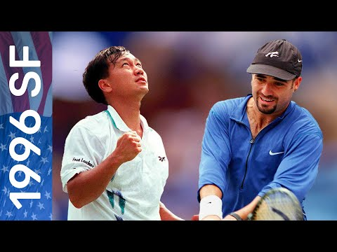 No. 2 seed Michael Chang vs No. 6 seed Andre Agassi | US Open 1996 Semifinal