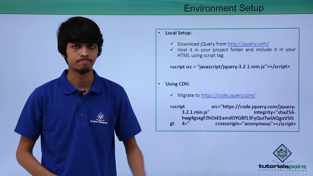 JQuery - Environment Setup