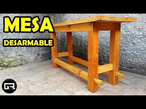Como hacer una mesa de melamine para estudiar doovi - Construir una mesa de madera ...