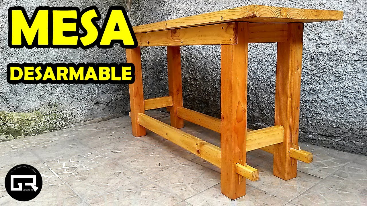 COMO HACER MESA DE MADERA DESARMABLE (HOW TO CREATE A WOODEN TABLE)