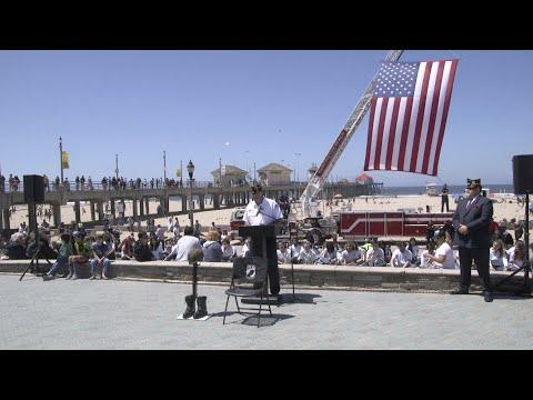 Huntington Beach Memorial Day Ceremony 2019 Pier Plaza