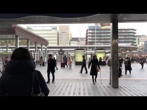 My First Osmo mobile 2 with iPhone X in Kyoto Station