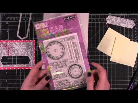 American Crafts POW Glitter Paper Card