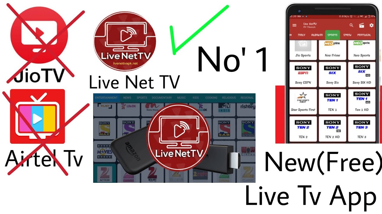Best No 1 Live TV App for All Network User, All Channel New (Free) Baapa of  jio tv, Airtel Tv