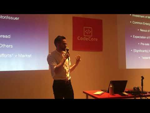 Blockchain law: ICOs, SAFT, token sales - Code Core Nov 14 2017