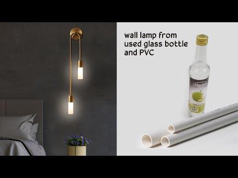 DIY Cara Membuat Lampu Dinding dari Botol dan Pipa PVC Bekas