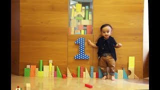 "One Year birthday slideshow ""Aarav"" - pre birthday video .."
