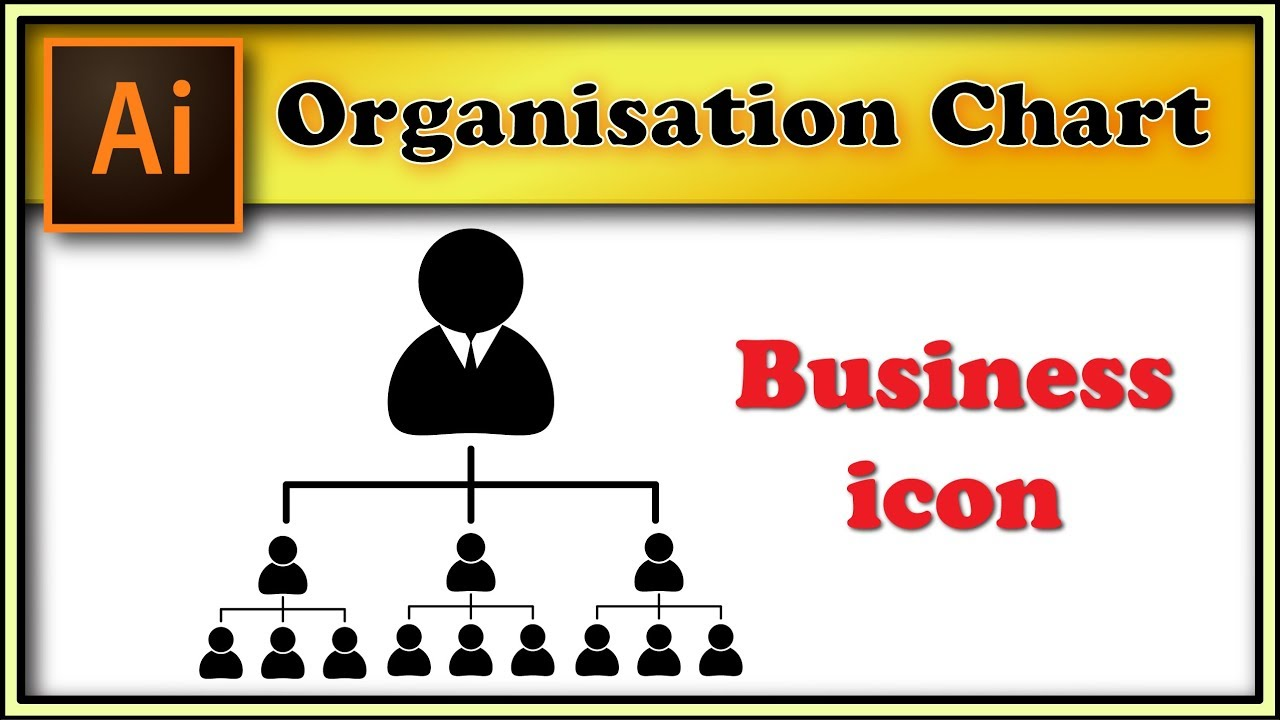 Organisation Chart Company Structure Adobe Illustrator Tutorial - Illustrator organizational chart template