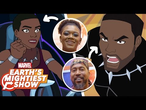 Black Panther & Shuri from 'Black Panther's Quest' Interview | Earth's Mightiest Show Bonus