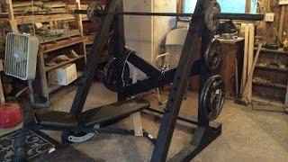 How To Make A Homemade Squat Rack Power Rack Half Rack