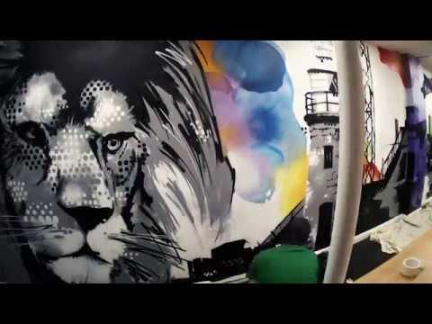FFX Office Graffiti Wall