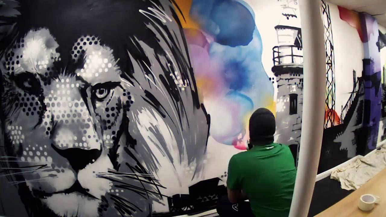 office graffiti wall. FFX Office Graffiti Wall I