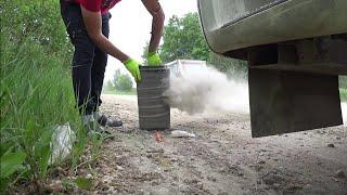 DAF 105 пылесос)Всю пыль в карьере собирает
