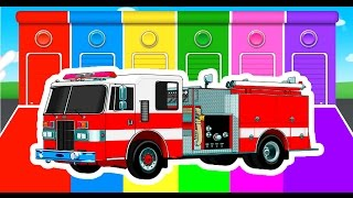 Learn Colors for Children with Trucks and CARS - COLOR for Kids to Learn - Cartoon Learning Videos