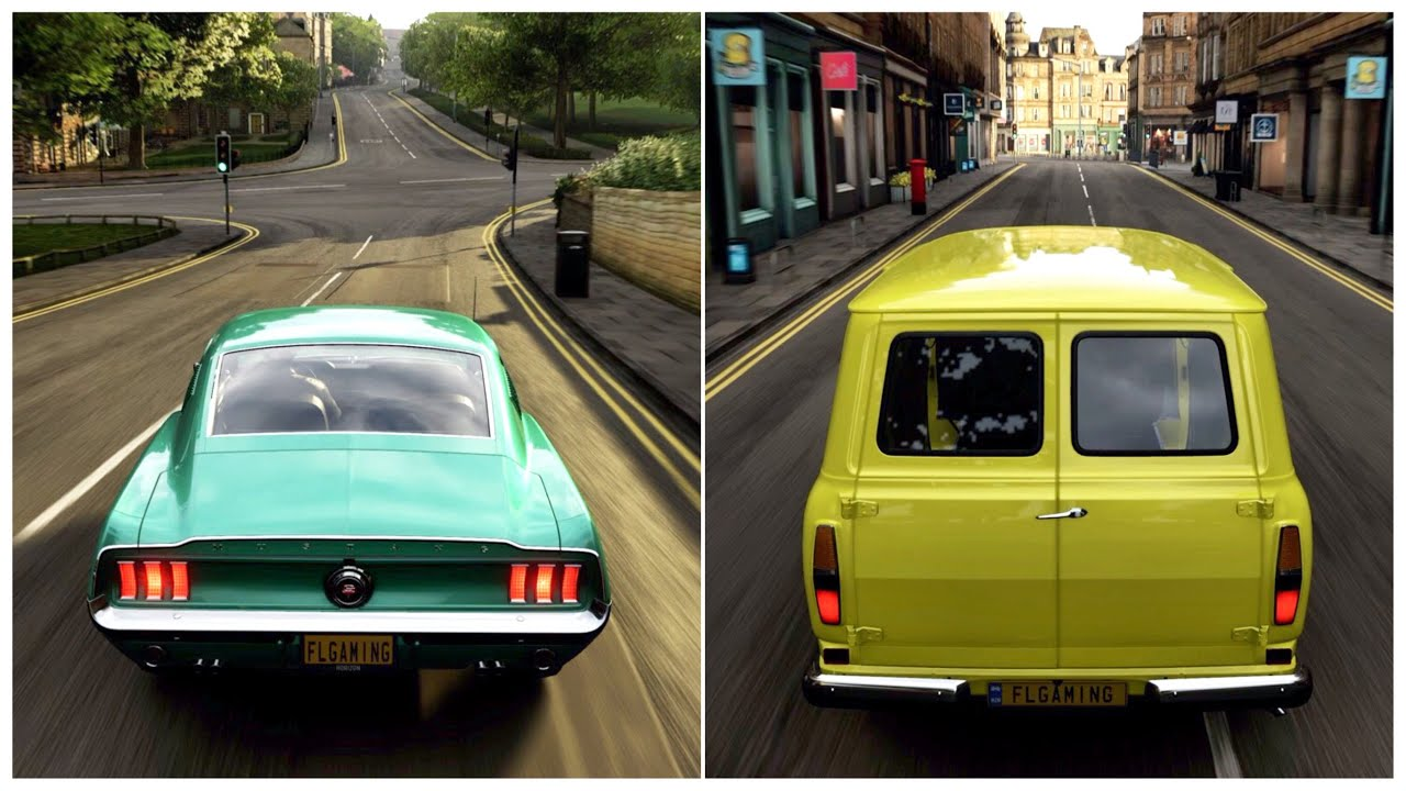 Forza Horizon 4   1968 Ford Mustang GT Fastback & 1965 Ford Transit Gameplay
