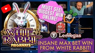 RECORD WIN!! INSANE MAX BET WIN FROM WHITE RABBIT SLOT! MUST SEE! BIGGEST WIN ONLINE!