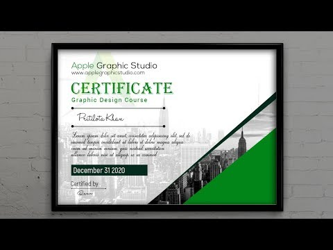 Creative Certificate Template Design - Photoshop Tutorial