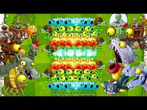 Plants vs Zombies 2 Mod: Every Pea vs Zombot Fight! (Max Level Plants) PVZ 2 Primal Gameplay Top 10